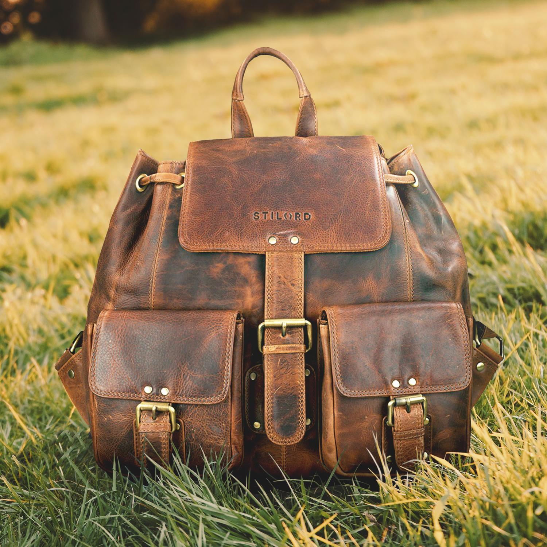 Leder Rucksack Vintage
