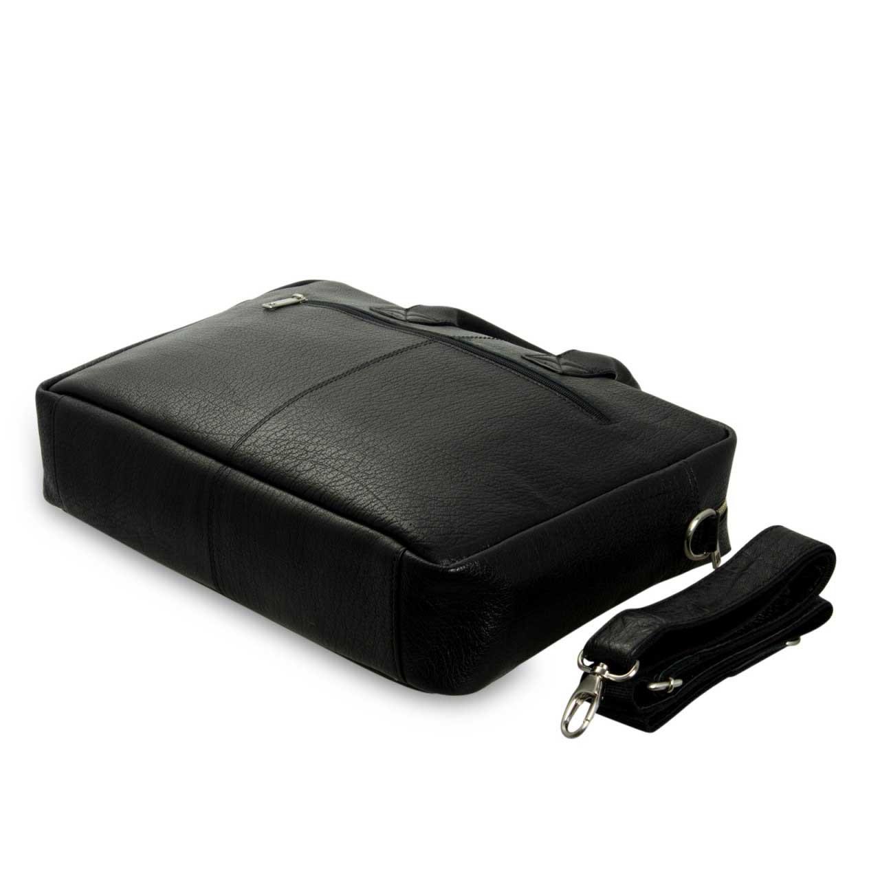 STILORD Umhängetasche Messenger Bag für Akten Ordner Groß 17.3 Zoll Laptop Tablet Tasche aus Leder schwarz  - Bild 5