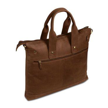 STILORD Vintage Ledertasche Damen Schultertasche Umhängetasche Handtasche Shopper 13,3 Zoll Laptop Büffel Leder Braun