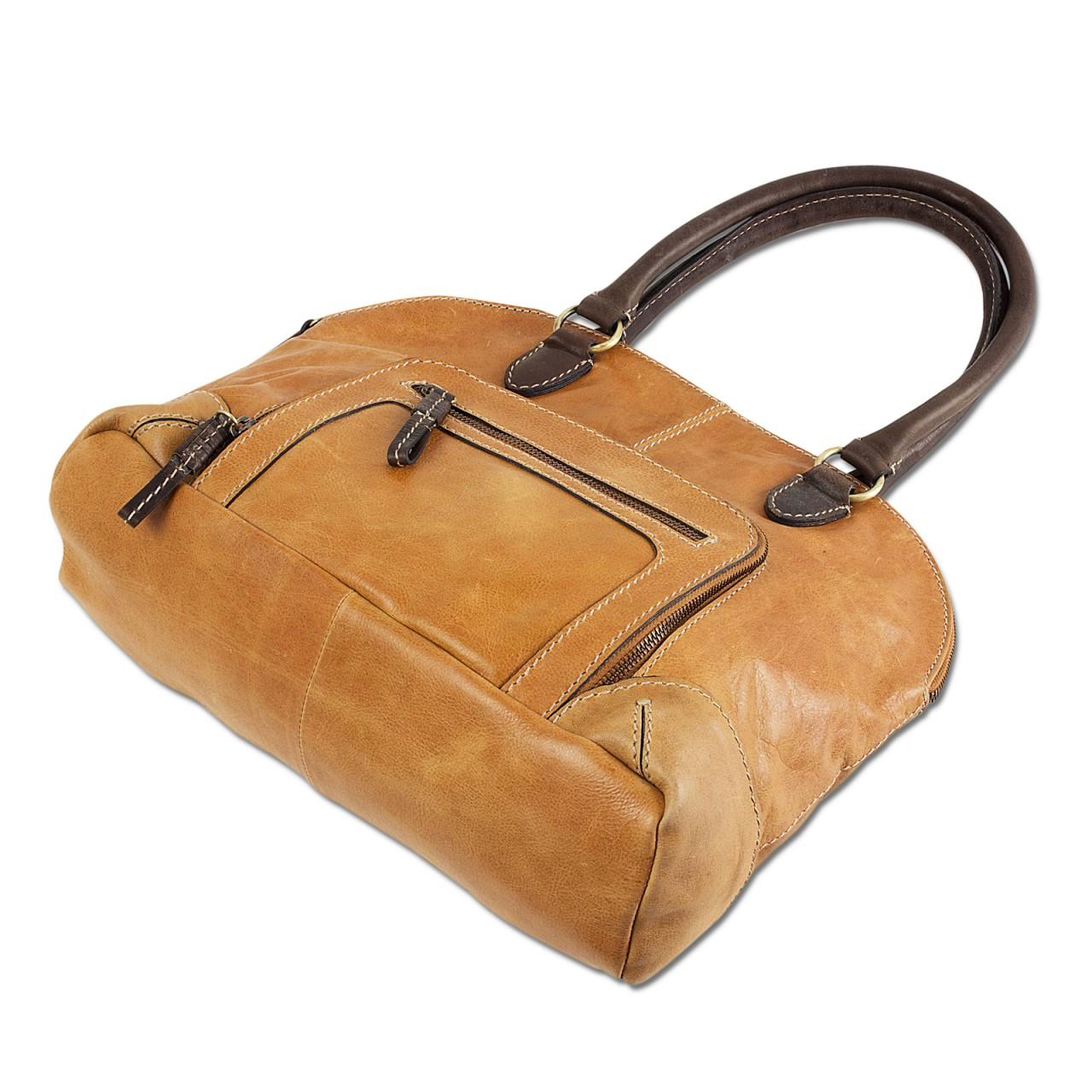 STILORD Vintage Handtasche groß Henkeltasche elegante Abendtasche für Damen - echtes Büffel Leder braun - Bild 3