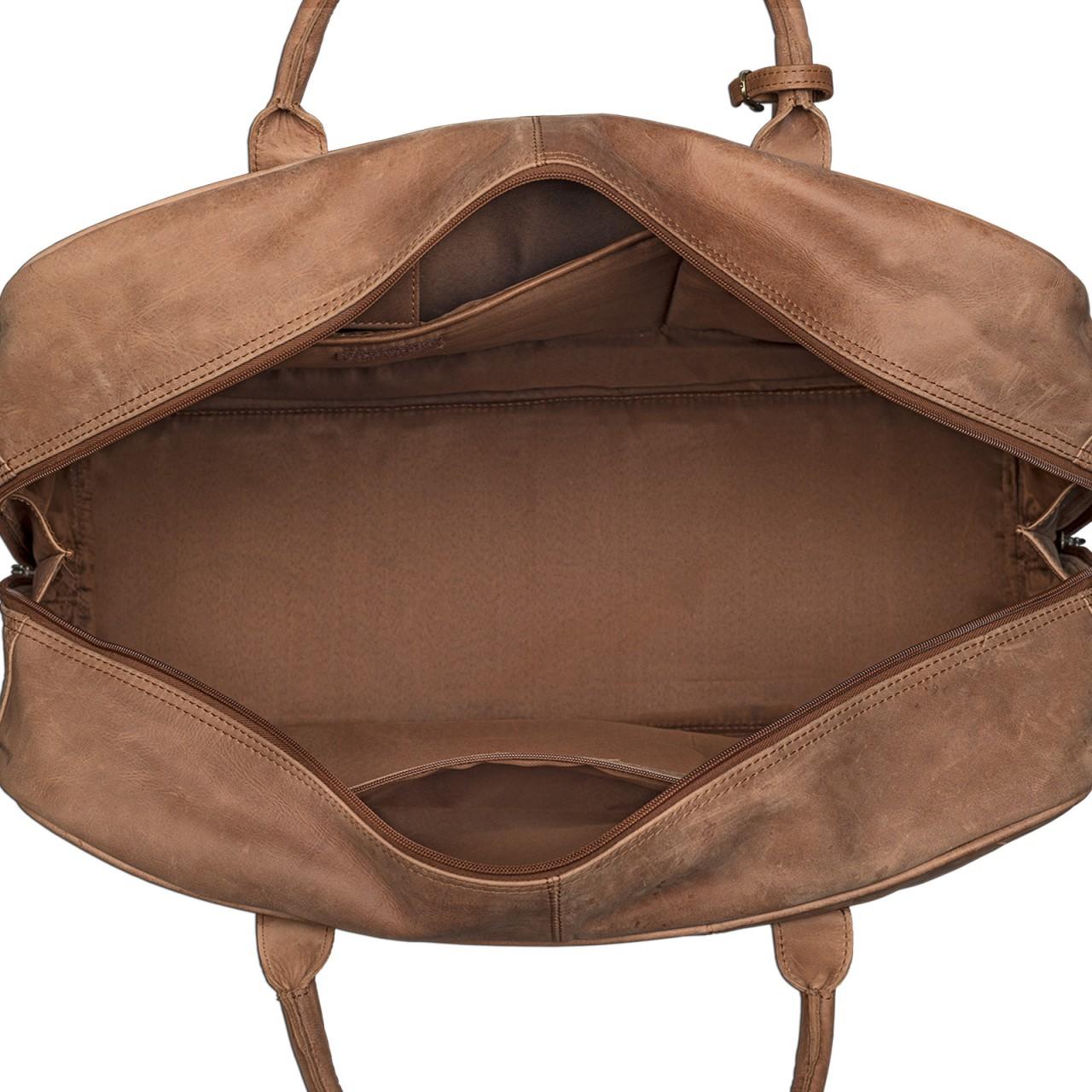 STILORD Vintage Reisetasche XXL groß Leder Weekend Bag Urlaub Retro Sporttasche Ledertasche mit 10.1 Zoll Tabletfach aus echtem Büffel-Leder braun - Bild 7