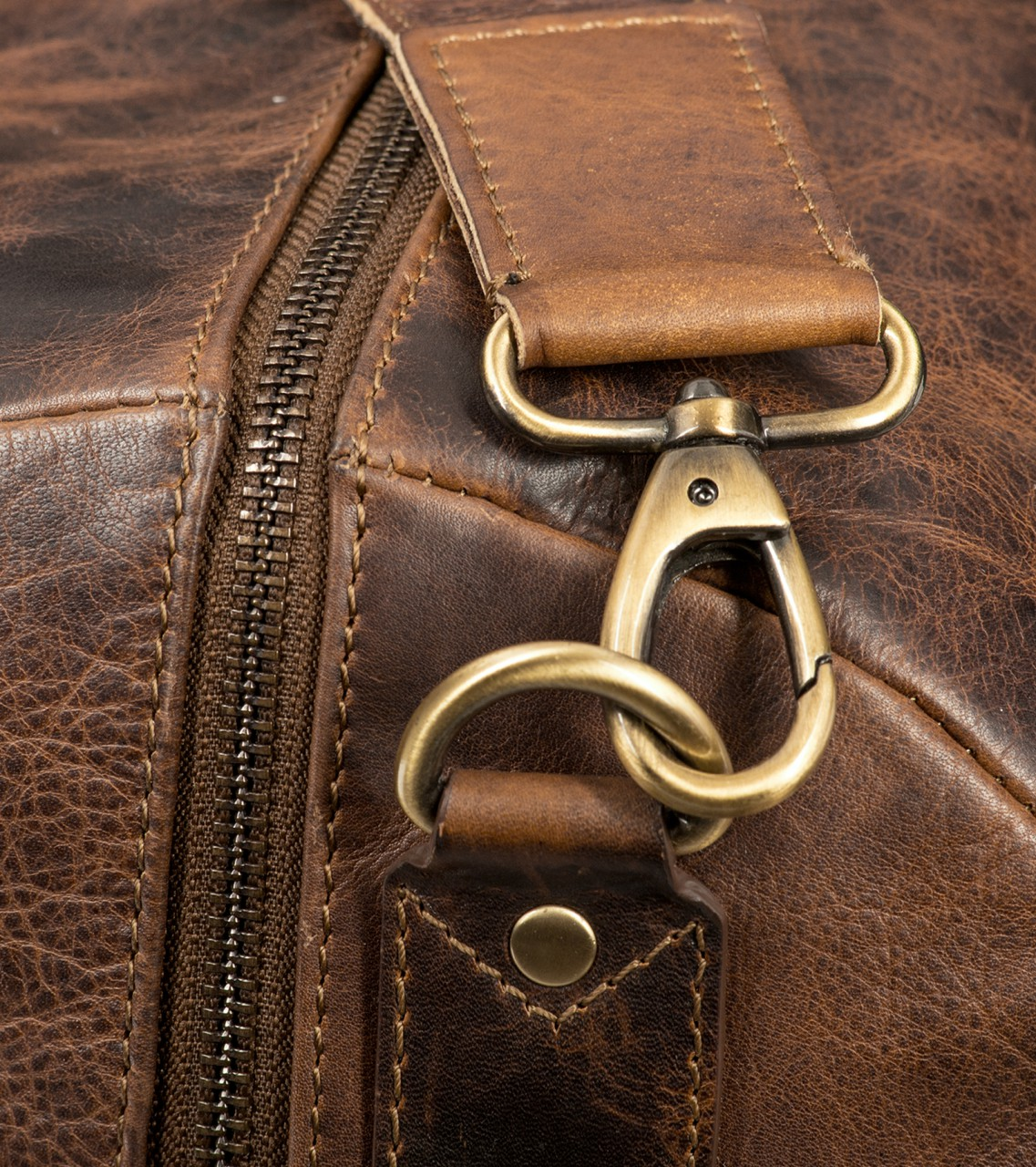STILORD Leder Vintage Reisetasche Weekend Bag Urlaub Ledertasche Handgepäck Sporttasche Retro Weekender echtes Leder dunkelbraun - Bild 6
