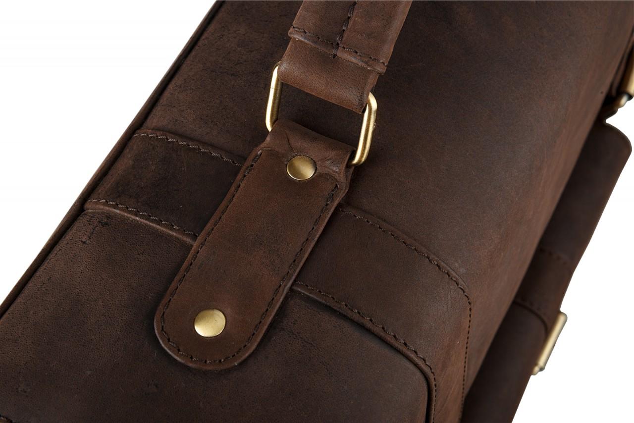 STILORD Klassische Aktentasche Lehrertasche Business Umhängetasche Leder Bürotasche Laptoptasche groß aus Rinds-Leder braun - Bild 7