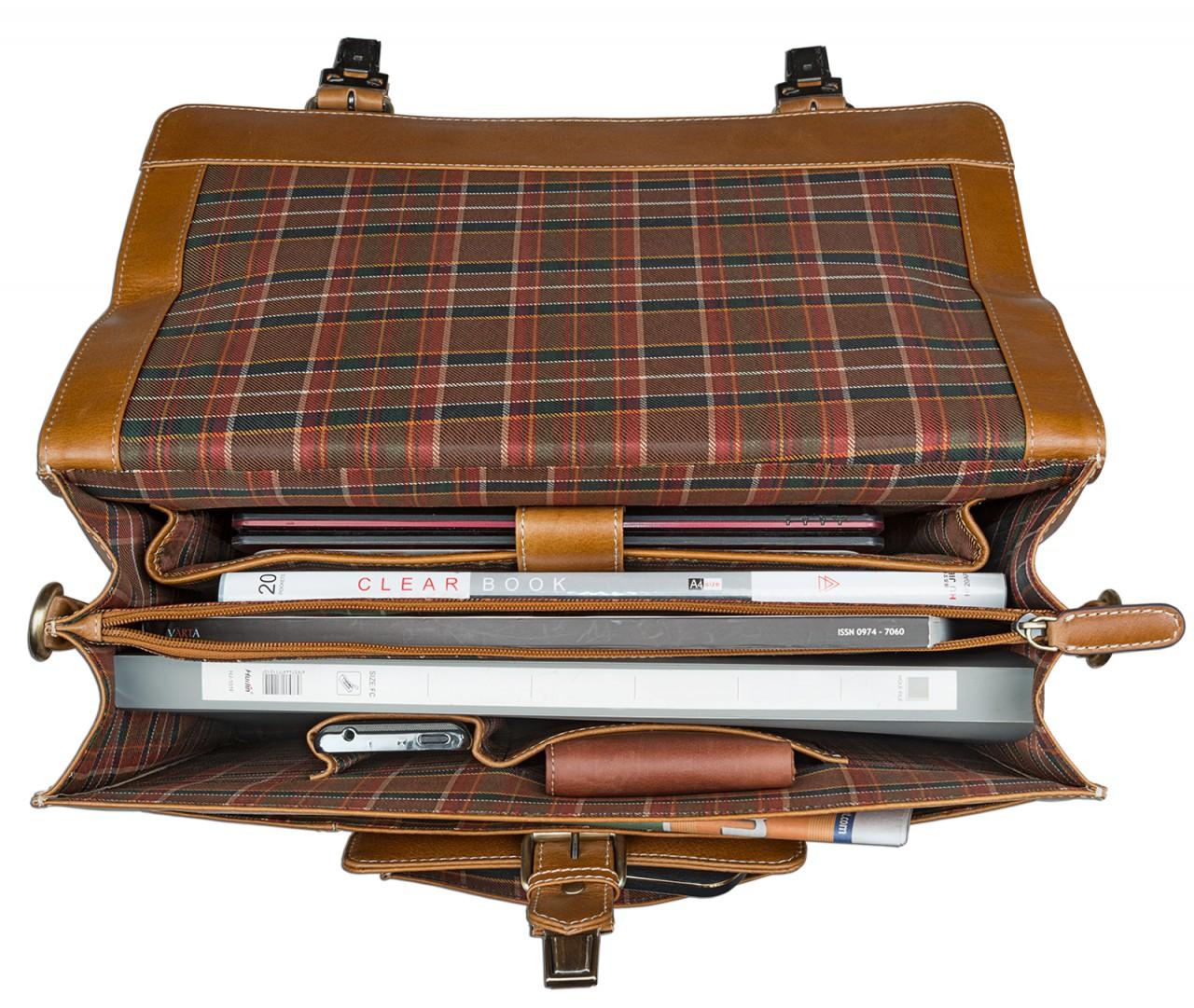 STILORD Aktentasche mit abnehmbaren Schultergurt Business Umhängetasche Lehrertasche im Vintage Design Leder cognac braun - Bild 5