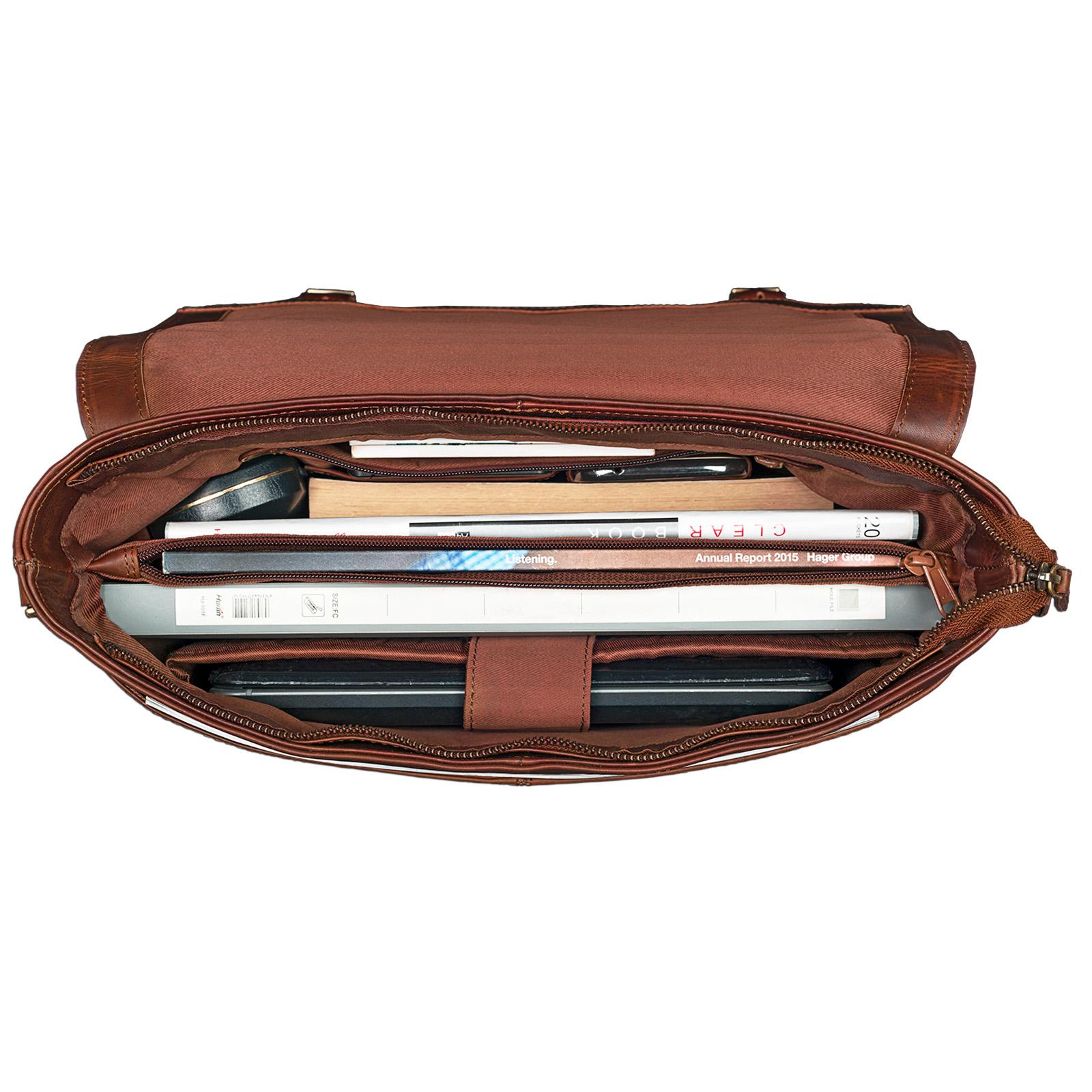 13,3 Zoll Leder Laptoptasche