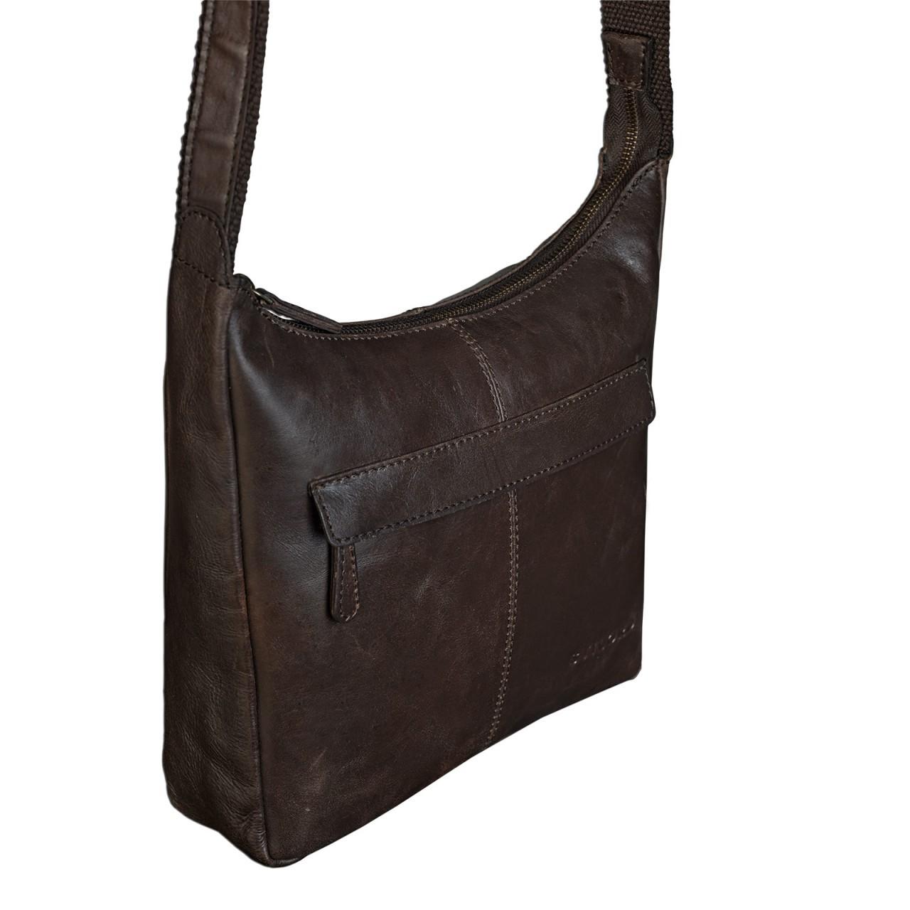 stilord dunkelbraune vintage umh ngetasche f r damen handtasche ledertasche aus weichem. Black Bedroom Furniture Sets. Home Design Ideas