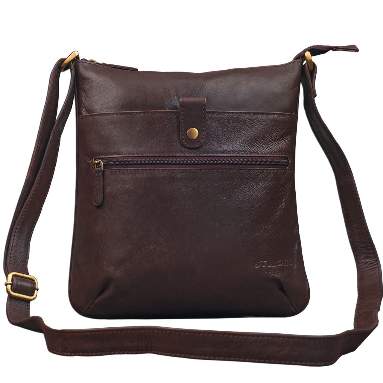 """STILORD """"Lina"""" Elegante Vintage Damen Umhängetasche Schultertasche klein Abendtasche klassische Handtasche 10.1 Zoll Tablettasche echtes Leder - Bild 11"""