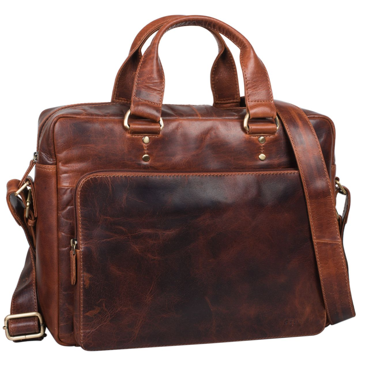 stilord joshua vintage businesstasche leder gro herren laptoptasche 13 3 zoll b rotasche. Black Bedroom Furniture Sets. Home Design Ideas