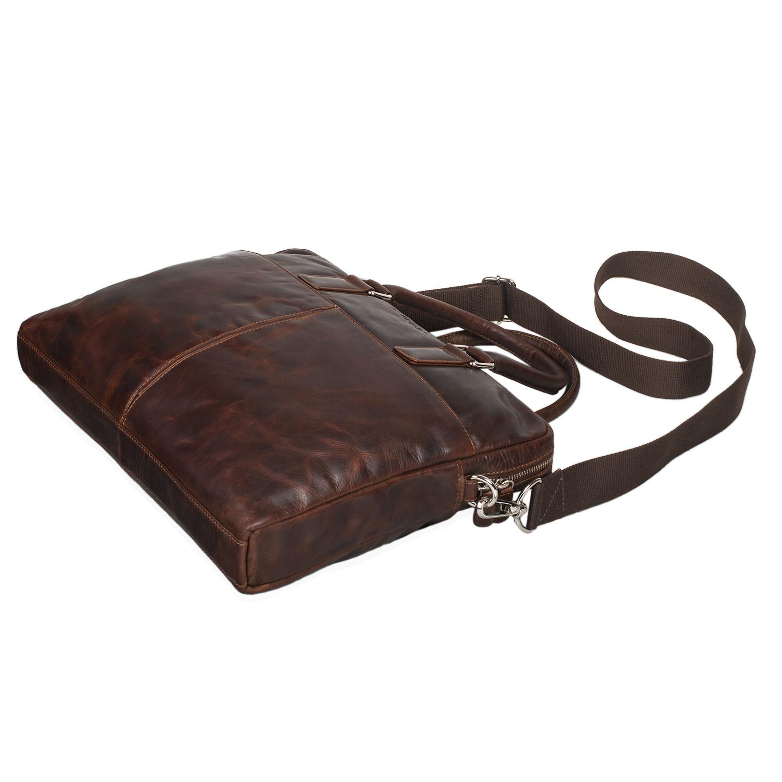 """STILORD """"Emilio"""" Umhängetasche Leder Vintage groß Schultertasche elegante Handtasche für Büro Business Arbeit Laptop 13.3 Zoll Aktentasche DIN A4 - Bild 19"""