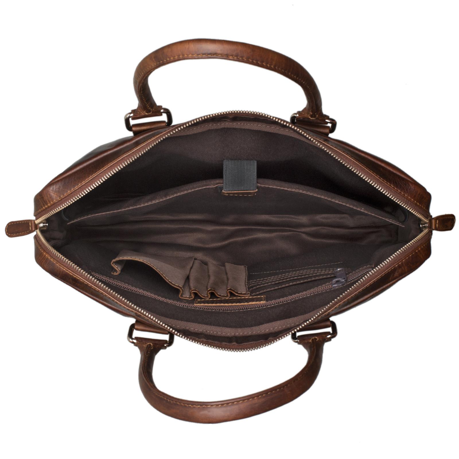 """STILORD """"Emilio"""" Umhängetasche Leder Vintage groß Schultertasche elegante Handtasche für Büro Business Arbeit Laptop 13.3 Zoll Aktentasche DIN A4 - Bild 17"""