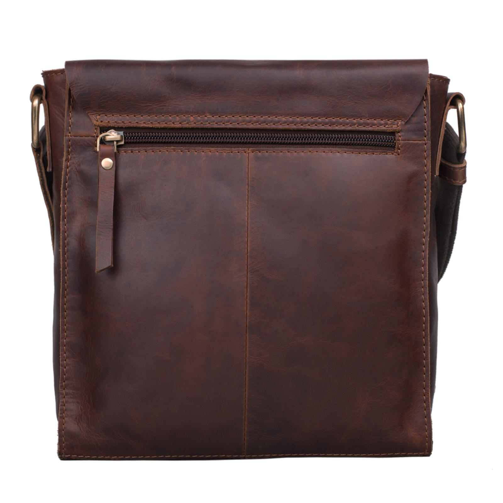 """STILORD """"Malte"""" Kleine Messenger Bag Leder Herren Vintage Schultertasche Umhängetasche für 9.7 Zoll Tablet iPad Handtasche A5 echtes Rindsleder - Bild 6"""