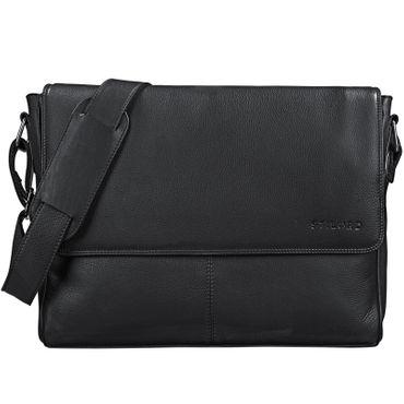 "STILORD ""Oskar"" Umhängetasche aus echtem Rinds-Leder Unisex Messenger Bag Business Unitasche Bürotasche Leder  – Bild 16"