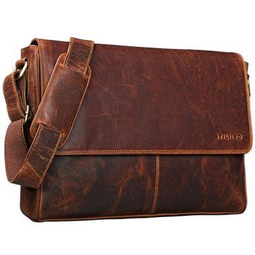 "STILORD ""Oskar"" Umhängetasche aus echtem Rinds-Leder Unisex Messenger Bag Business Unitasche Bürotasche Leder  – Bild 8"