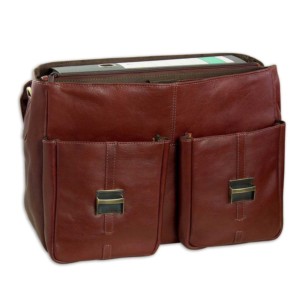 """STILORD """"Robin"""" Vintage Businesstasche Leder Aktentasche für Damen und Herren Schloss 15,6 Zoll Laptopfach elegante Umhängetasche aus echtem Leder  - Bild 3"""