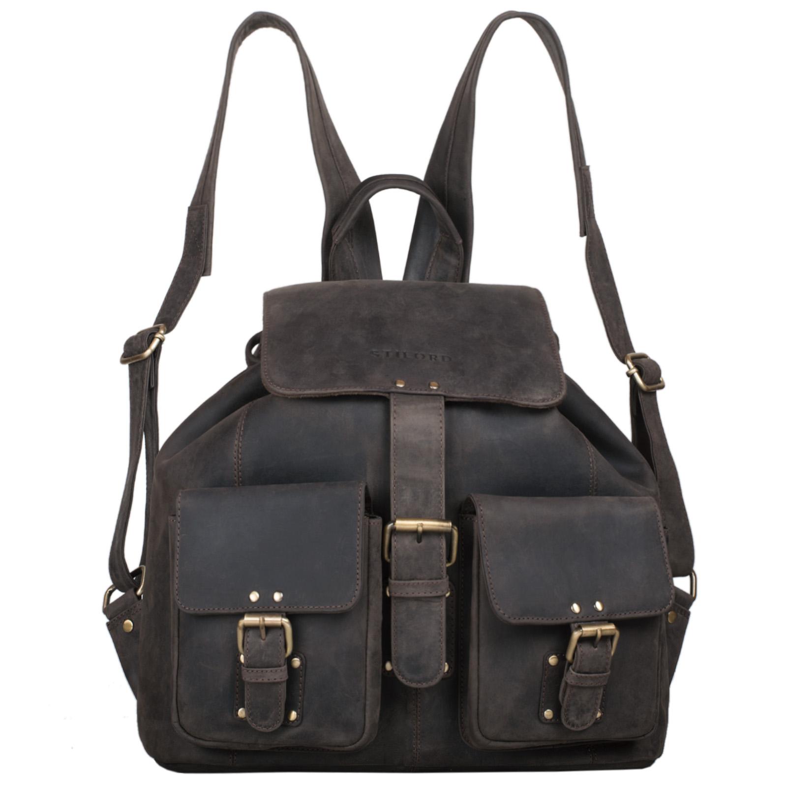 "STILORD ""Larissa"" Vintage Rucksack Leder Damen Rucksackhandtasche Lederrucksack Handtasche DIN A4 City Shopping Daypack Schule Uni - Bild 13"