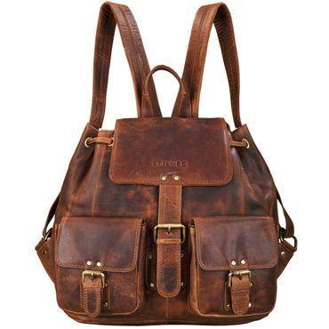 "STILORD ""Larissa"" Vintage Rucksack Leder Damen Rucksackhandtasche Lederrucksack Handtasche DIN A4 City Shopping Daypack Schule Uni"