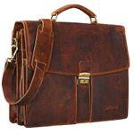 """STILORD """"Julian"""" Aktentasche Leder Elegant Klassische Businesstasche mit Schloss groß aufsteckbar Bürotasche echtes Leder vom Rind"""