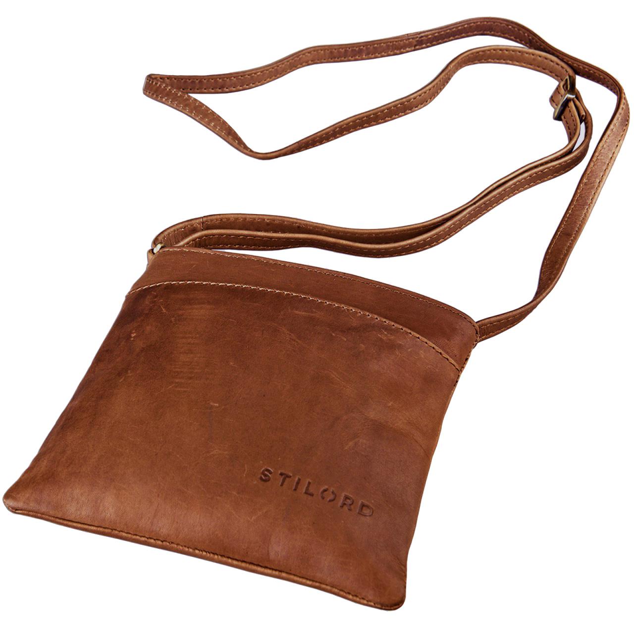 """STILORD """"Lana"""" kleine Umhängetasche Damen Ausgehtasche Schultertasche Handtasche echtes Büffel Leder Vintage Design - Bild 1"""