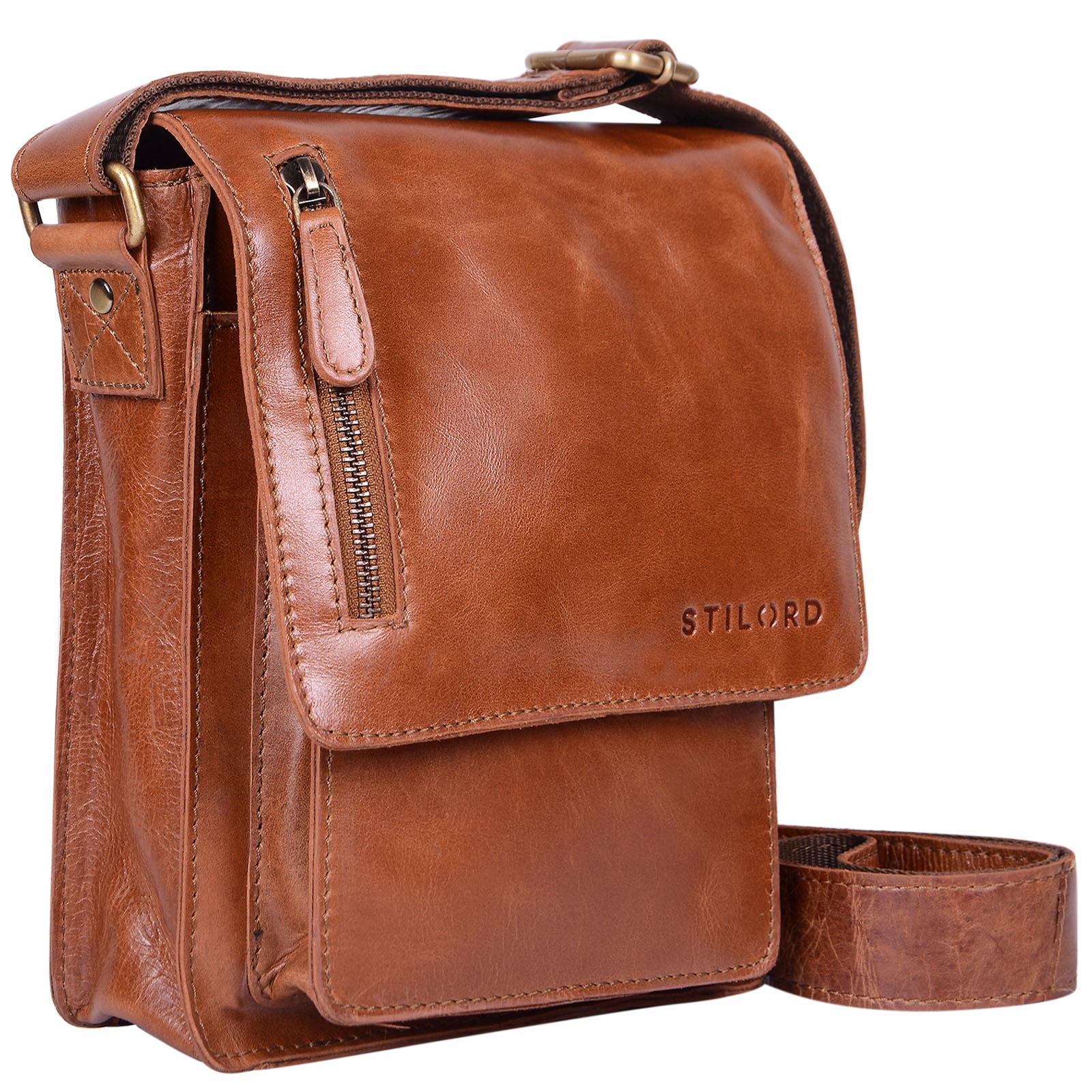"""STILORD """"Finn"""" kleine Umhängetasche Herren Schultertasche Vintage Messenger Bag 8,4 Zoll Tablettasche echtes Büffel-Leder  - Bild 14"""