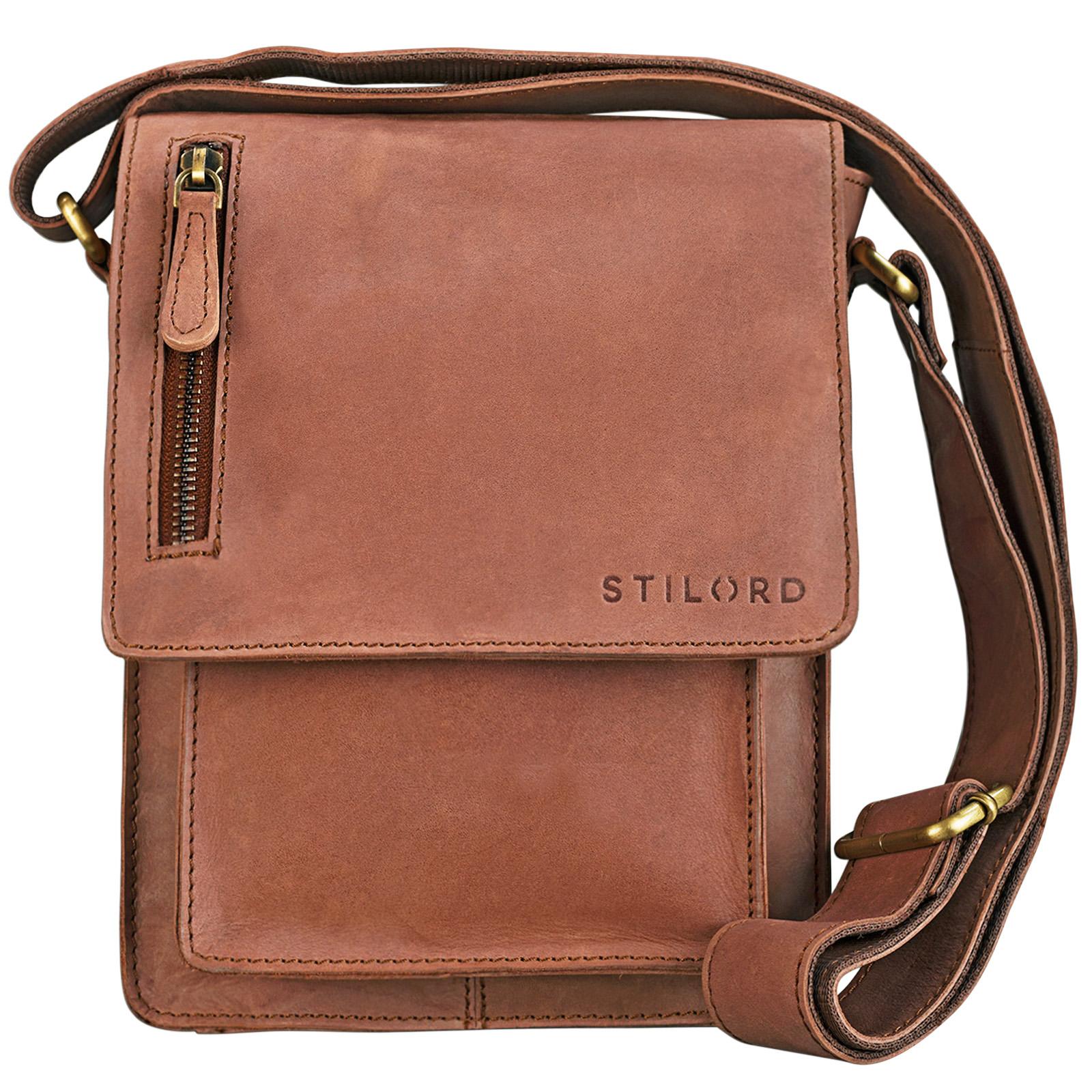 """STILORD """"Finn"""" kleine Umhängetasche Herren Schultertasche Vintage Messenger Bag 8,4 Zoll Tablettasche echtes Büffel-Leder  - Bild 3"""