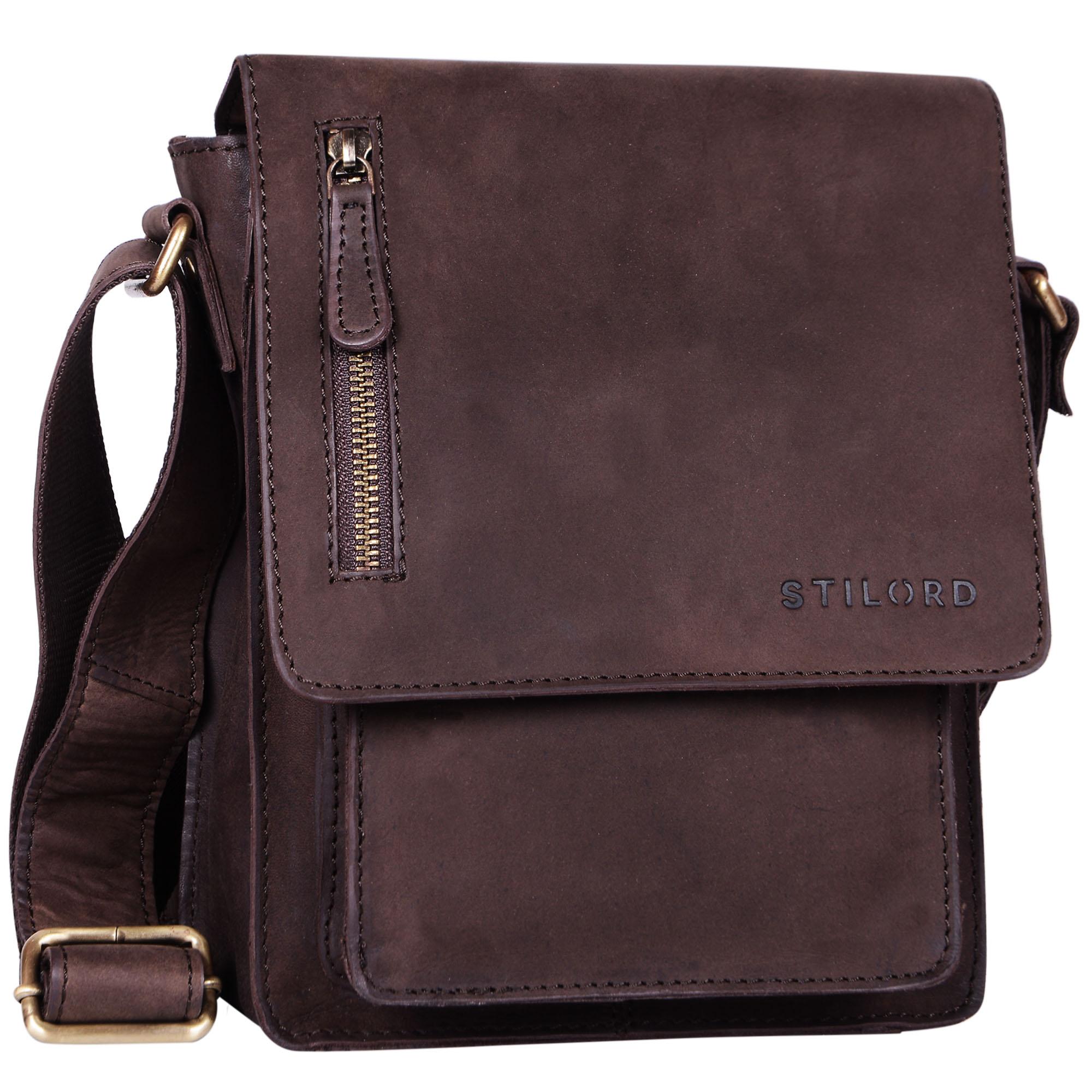 """STILORD """"Finn"""" kleine Umhängetasche Herren Schultertasche Vintage Messenger Bag 8,4 Zoll Tablettasche echtes Büffel-Leder  - Bild 13"""