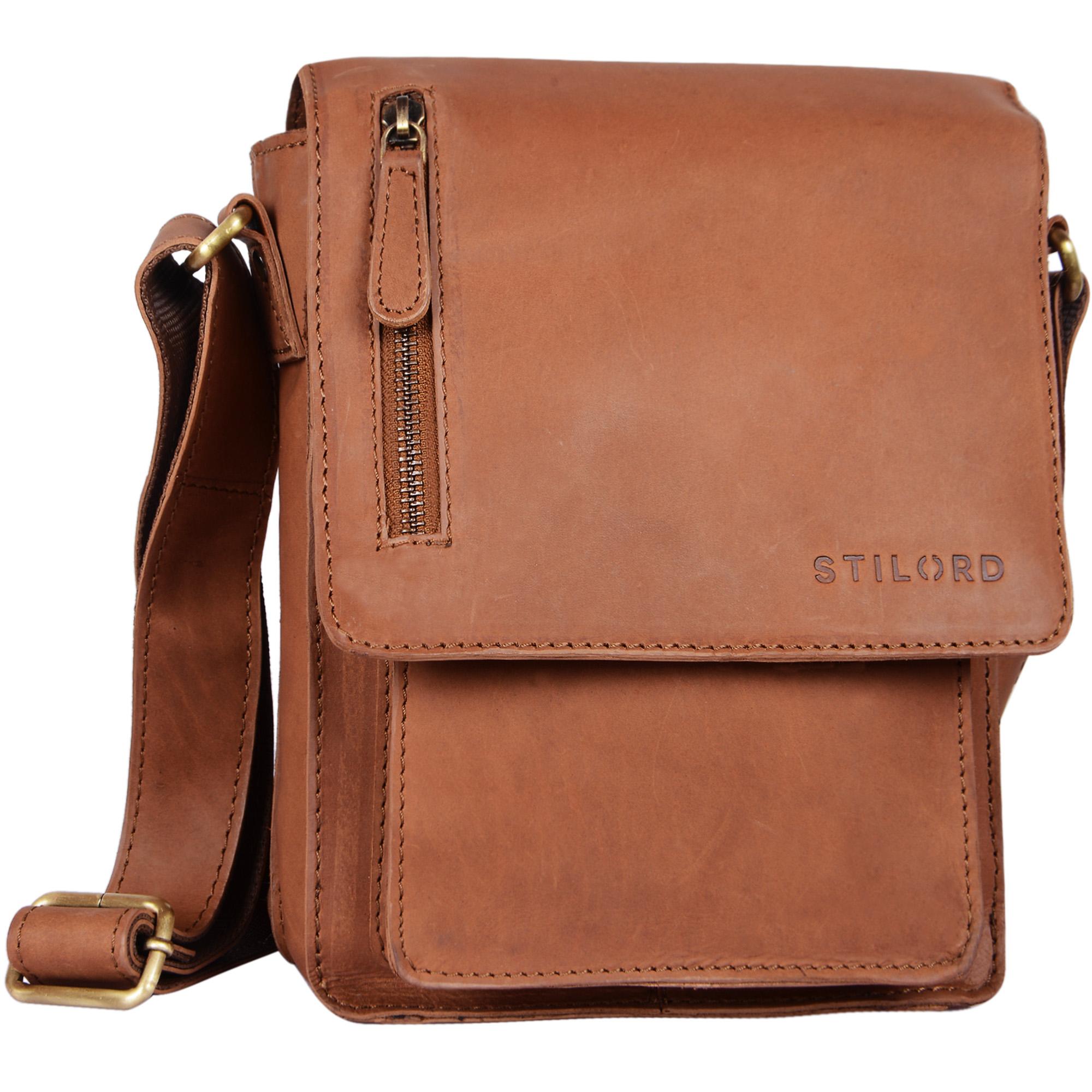 """STILORD """"Finn"""" kleine Umhängetasche Herren Schultertasche Vintage Messenger Bag 8,4 Zoll Tablettasche echtes Büffel-Leder  - Bild 12"""