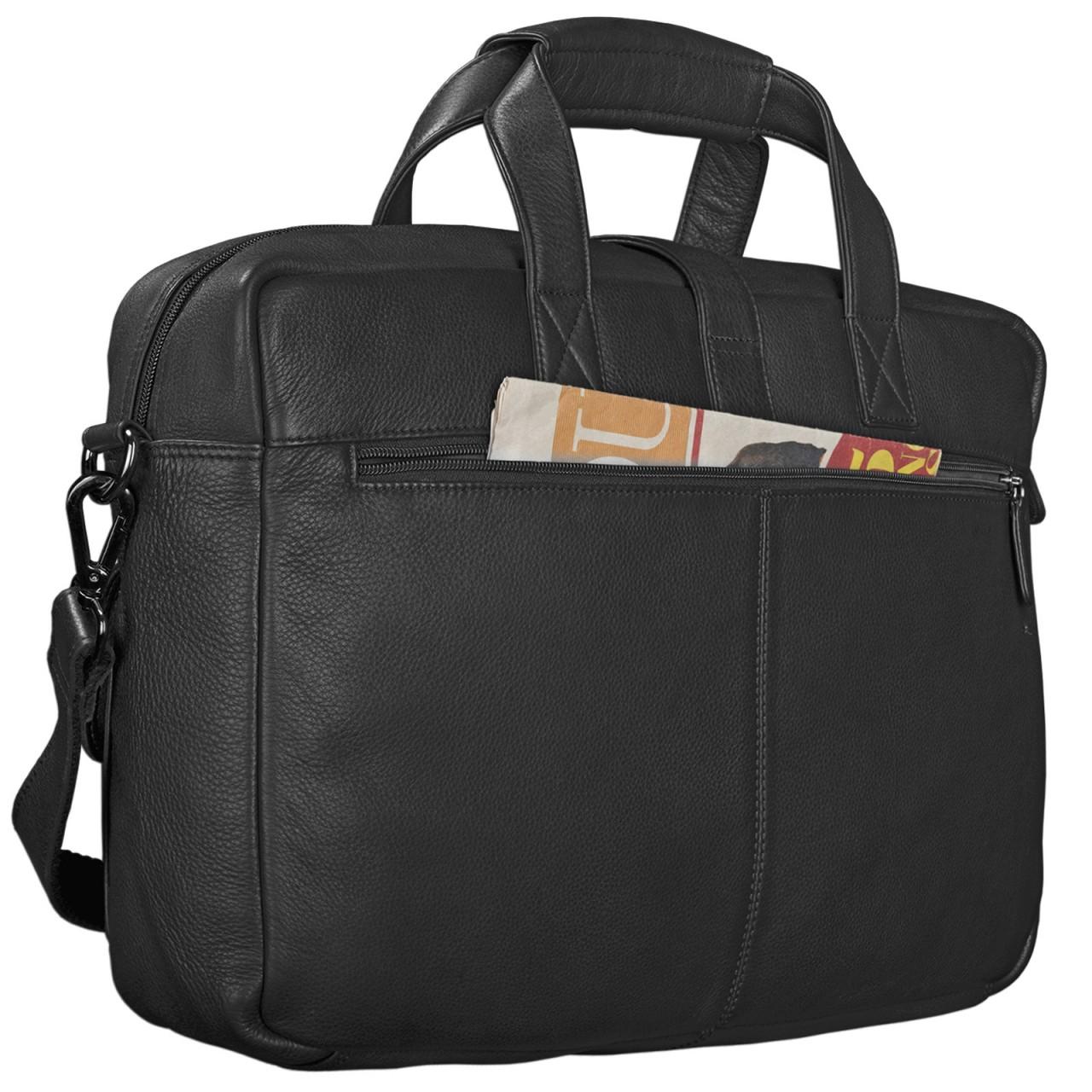 """STILORD """"Michael"""" Lehrertasche Leder Vintage Leder Laptoptasche 15,6 Zoll groß Büro Uni Herren Damen Rindsleder - Bild 20"""