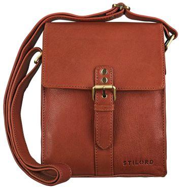 """STILORD """"Kilian"""" Vintage Umhängetasche Leder klein Unisex Messenger Bag für 8,4 Zoll Tablets Schultertasche Herren Damen echtes Leder – Bild 8"""
