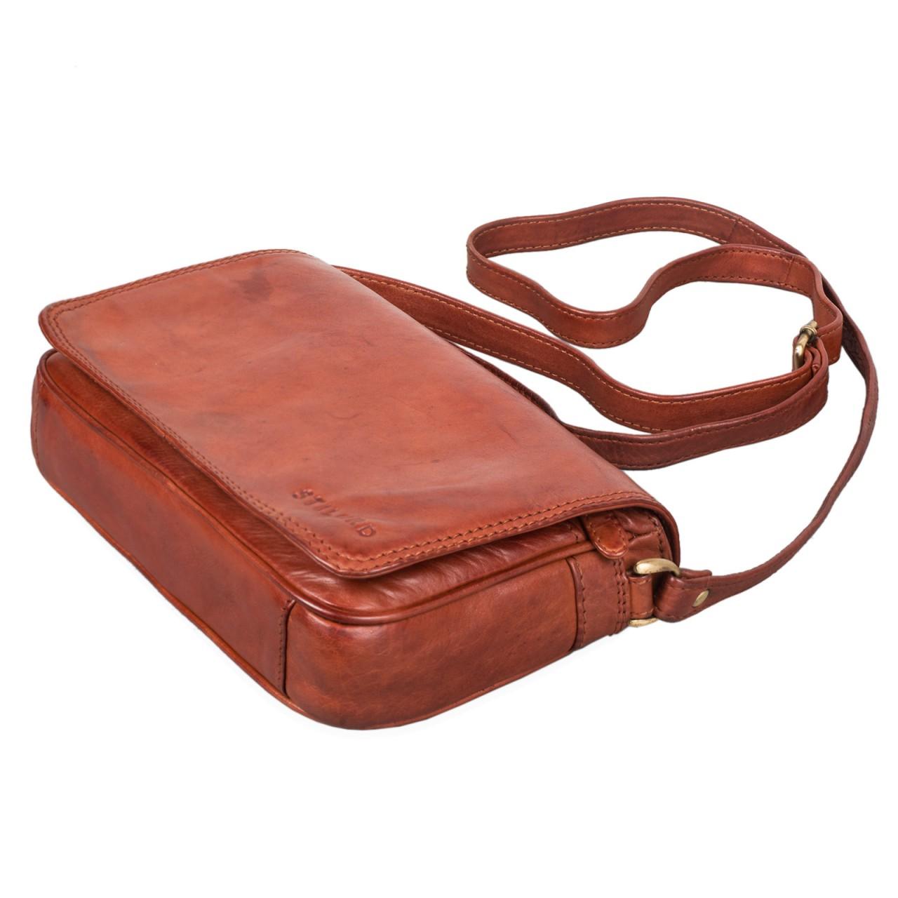 """STILORD """"Leana"""" Damen Umhängetasche Leder klein Vintage Handtasche viele Fächer elegante Ausgehtasche Vintage Echtleder - Bild 19"""