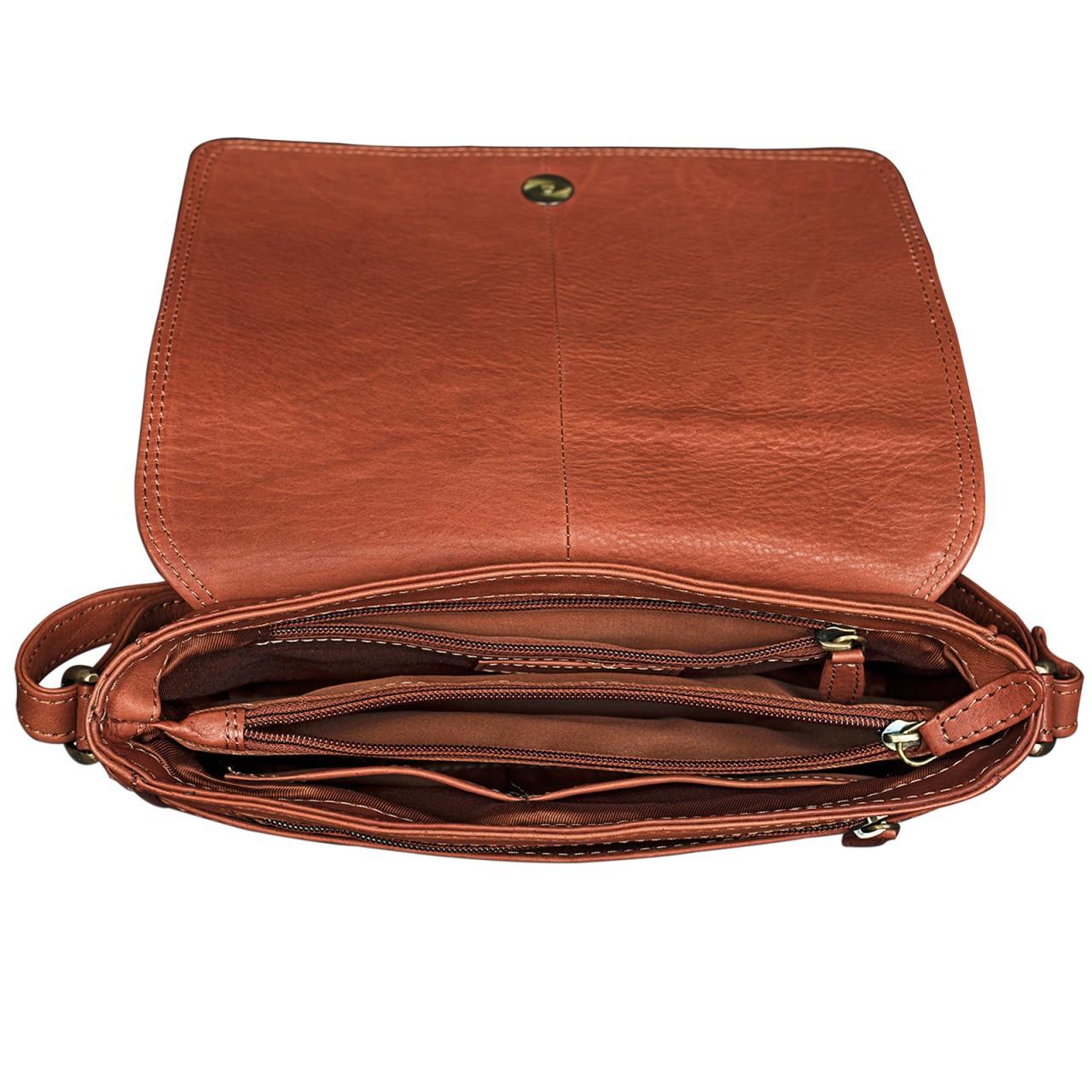 """STILORD """"Leana"""" Damen Umhängetasche Leder klein Vintage Handtasche viele Fächer elegante Ausgehtasche Vintage Echtleder - Bild 9"""