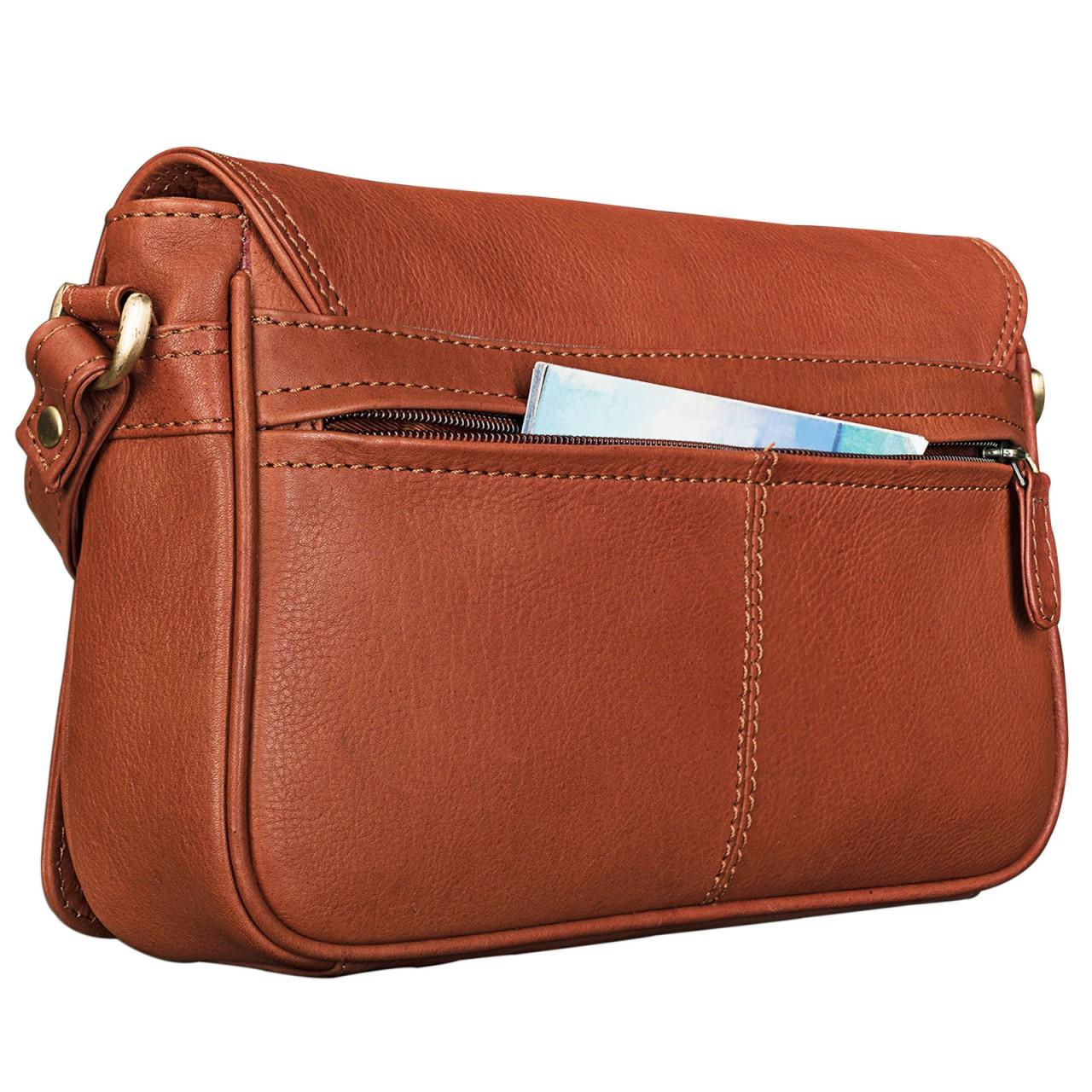 """STILORD """"Leana"""" Damen Umhängetasche Leder klein Vintage Handtasche viele Fächer elegante Ausgehtasche Vintage Echtleder - Bild 13"""