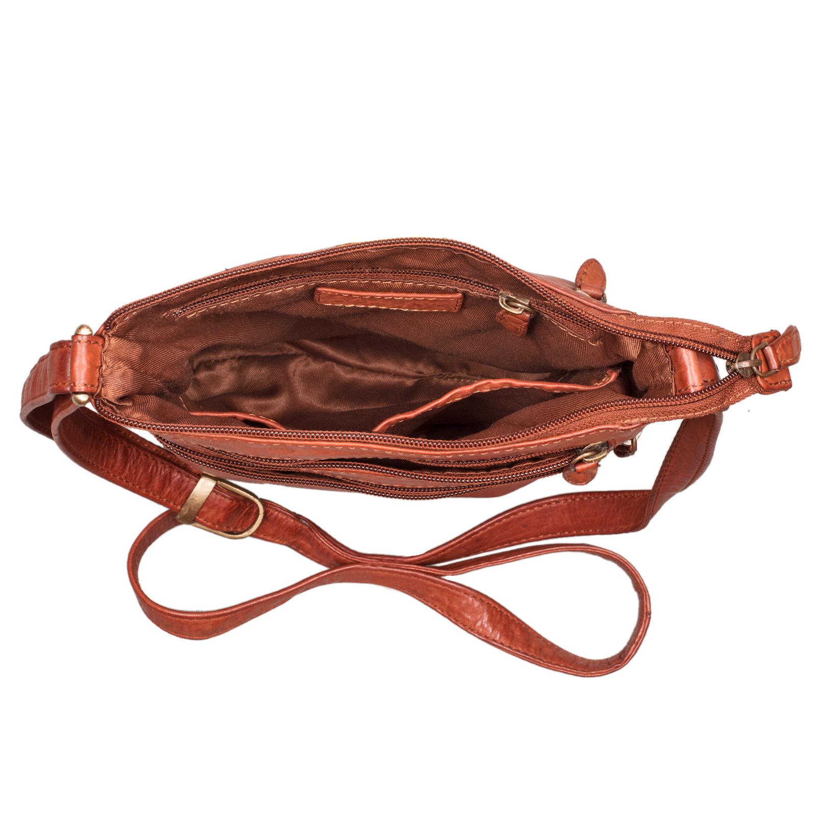 Leder Handtasche für Frauen braun