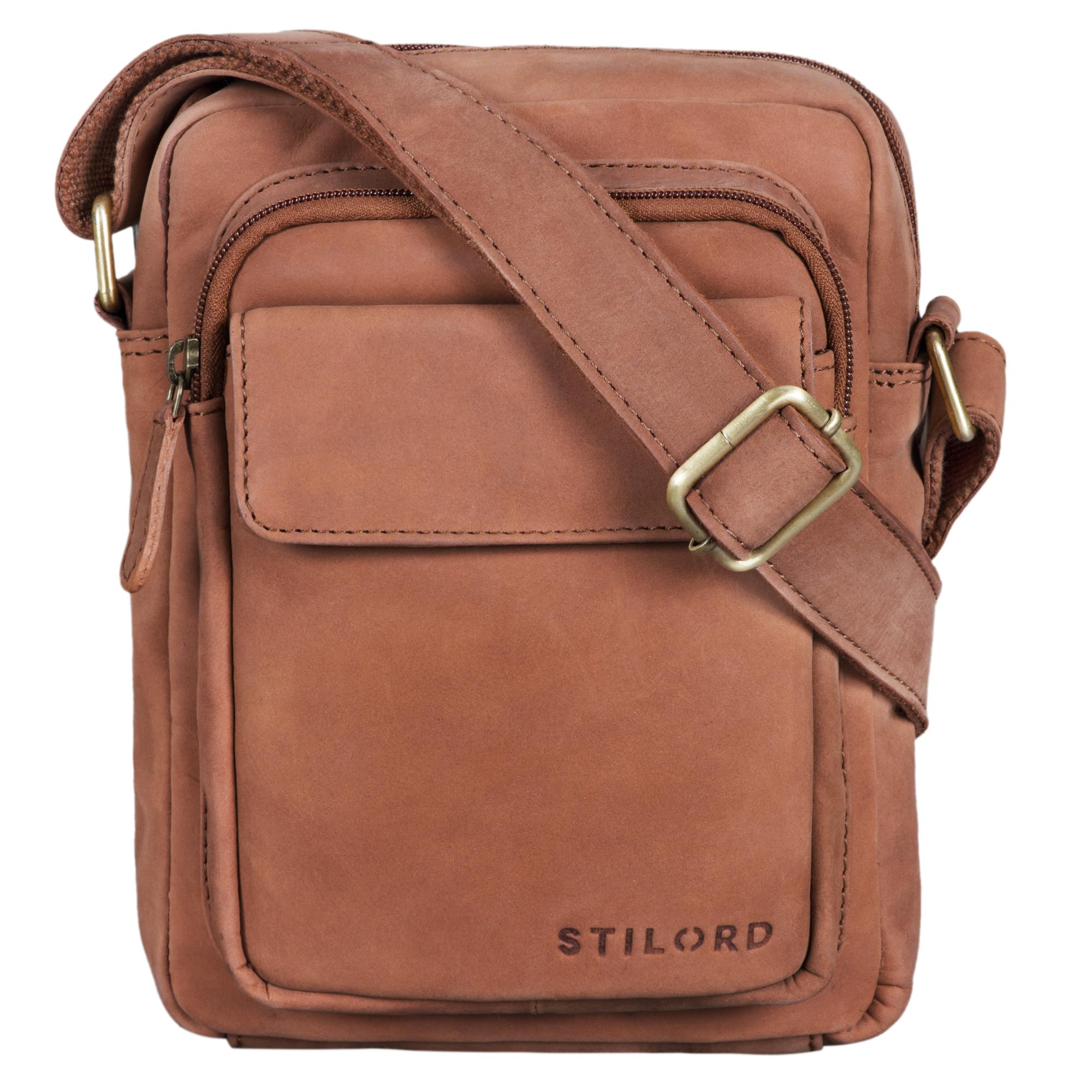 """STILORD """"Jannis"""" Leder Umhängetasche Männer klein Vintage Messenger Bag Herren-Tasche Tablettasche für 9.7 Zoll iPad Schultertasche aus echtem Leder - Bild 12"""