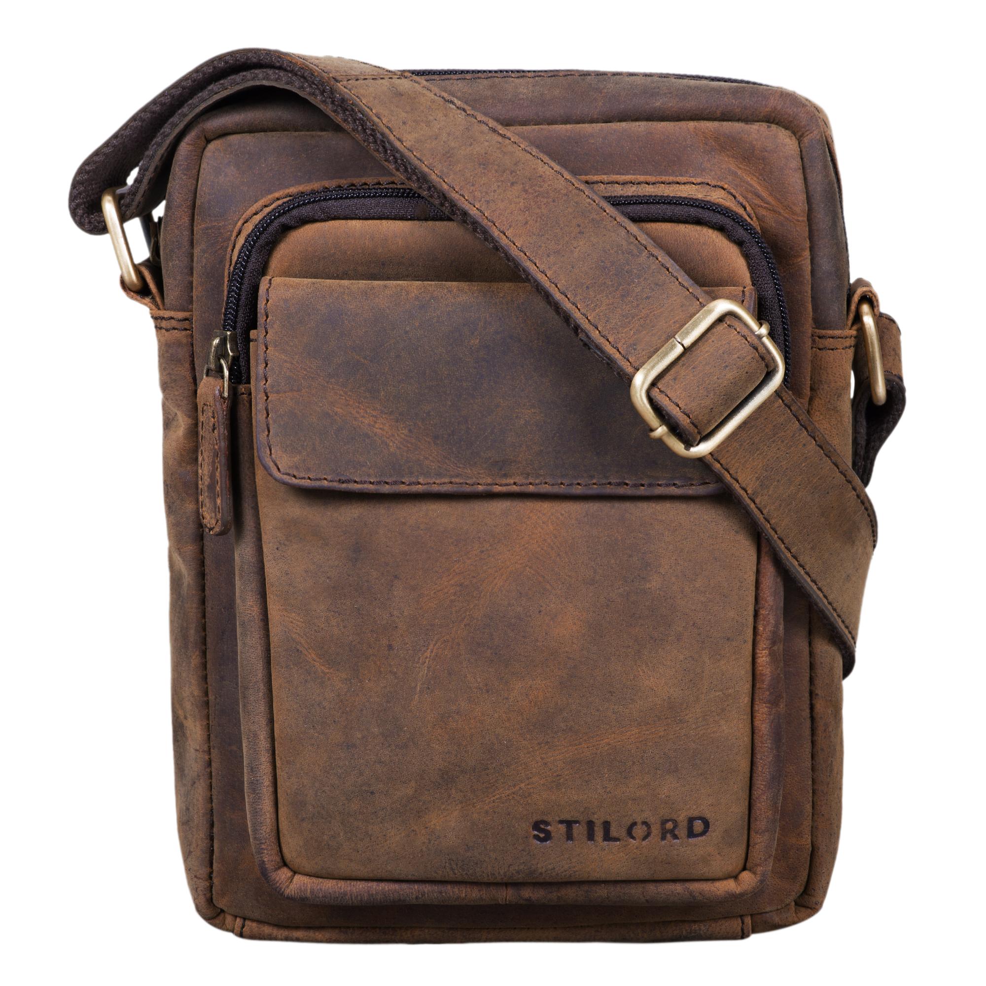 """STILORD """"Jannis"""" Leder Umhängetasche Männer klein Vintage Messenger Bag Herren-Tasche Tablettasche für 9.7 Zoll iPad Schultertasche aus echtem Leder - Bild 15"""