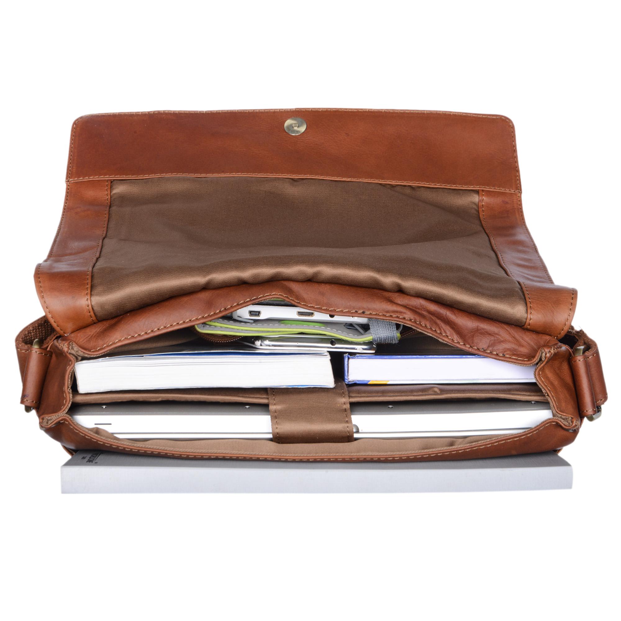 Laptoptasche 13 Zoll echtes Leder