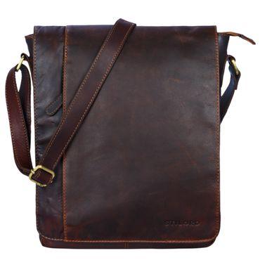 """STILORD """"Paul"""" Umhängetasche Herren Leder Hochformat braune Messenger Bag im Vintage Design Ledertasche für 13,3 Zoll MacBook iPad DIN A4 Herrentasche Echtleder – Bild 17"""