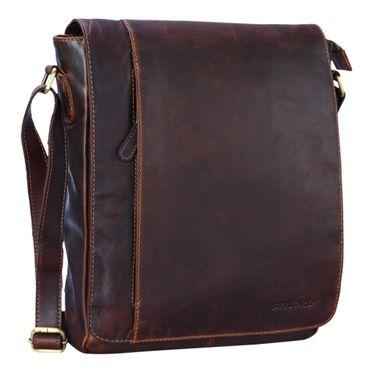 """STILORD """"Paul"""" Umhängetasche Herren Leder Hochformat braune Messenger Bag im Vintage Design Ledertasche für 13,3 Zoll MacBook iPad DIN A4 Herrentasche Echtleder – Bild 16"""