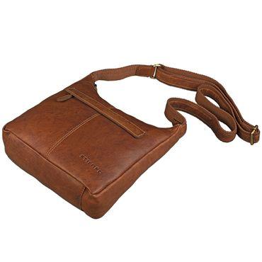STILORD kleine Lederhandtasche Umhängetasche Vintage Handtasche mit verstellbarem Schulterriemen aus weichem Antik Leder Damen – Bild 22