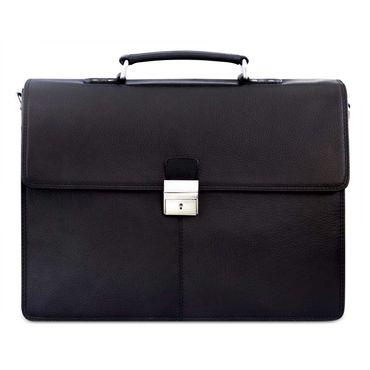 """STILORD """"Edward"""" Herren Aktentasche Dokumententasche Laptoptasche Business Büro Tasche mit Schultergurt echt Leder Farbe: schwarz"""