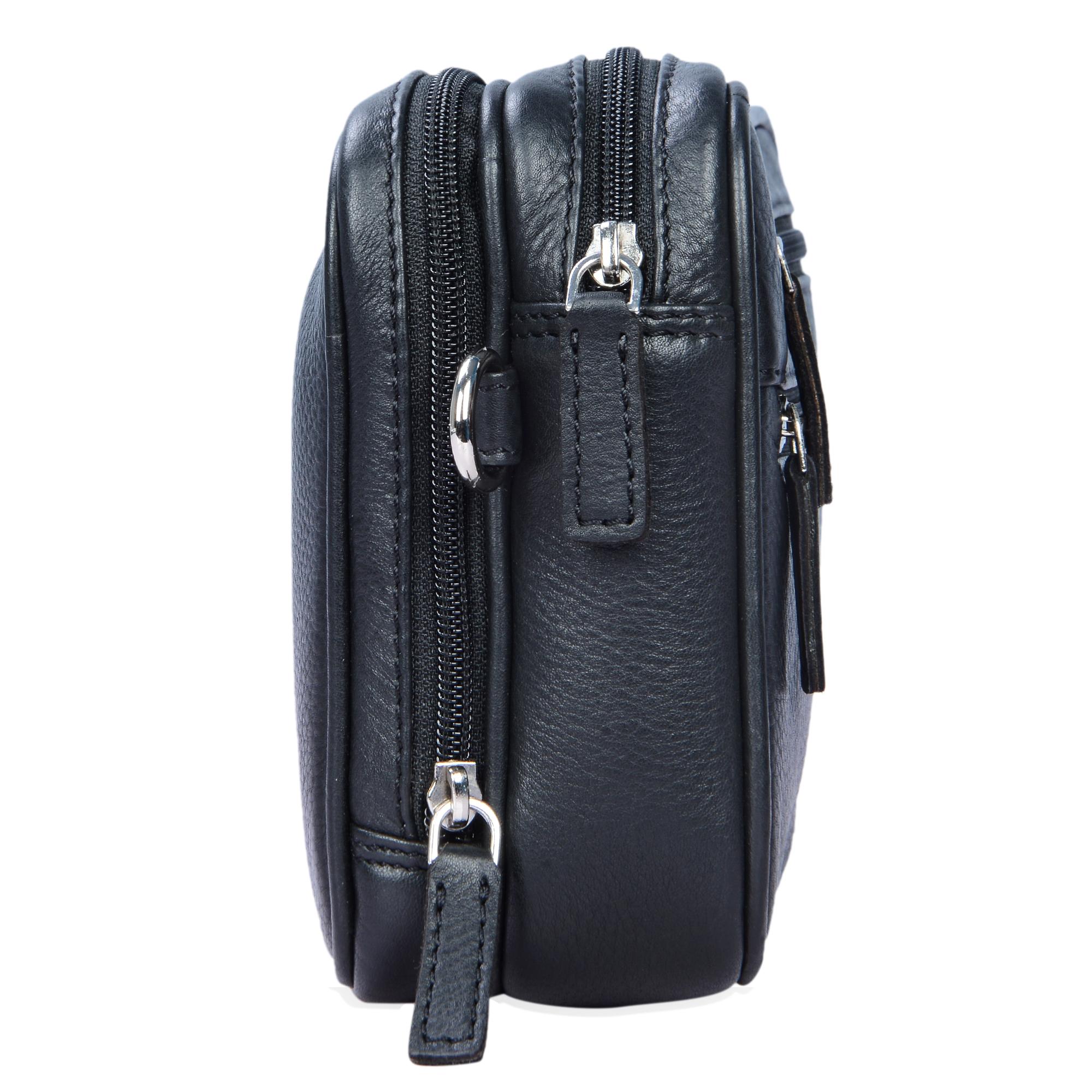 """STILORD """"Nero"""" Handgelenktasche Herren Leder mit Doppelkammer Vintage Handtasche für 8,4 Zoll Tablets ideal für Reisen Festival Herrenhandtasche echtes Leder - Bild 13"""