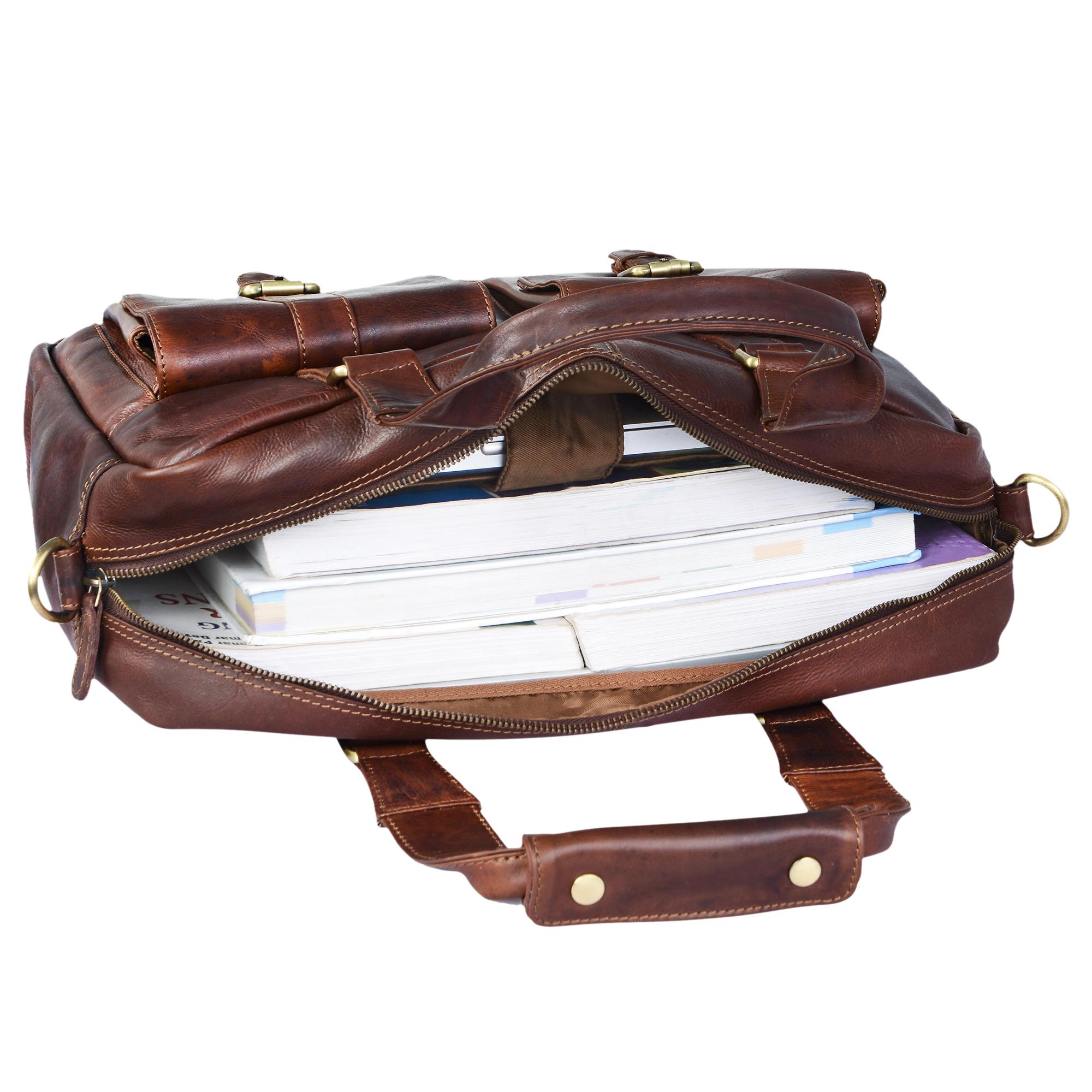 Laptoptasche 15.6 Zoll Notebook Leder