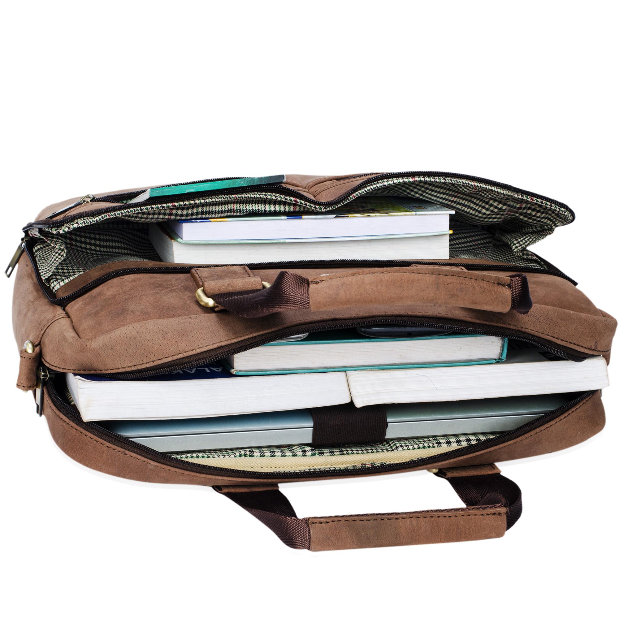 """STILORD """"Vito"""" Vintage Businesstasche Leder Herren Damen 14 Zoll Laptoptasche Umhängetasche Aktentasche Arbeitstasche Rindsleder - Bild 7"""