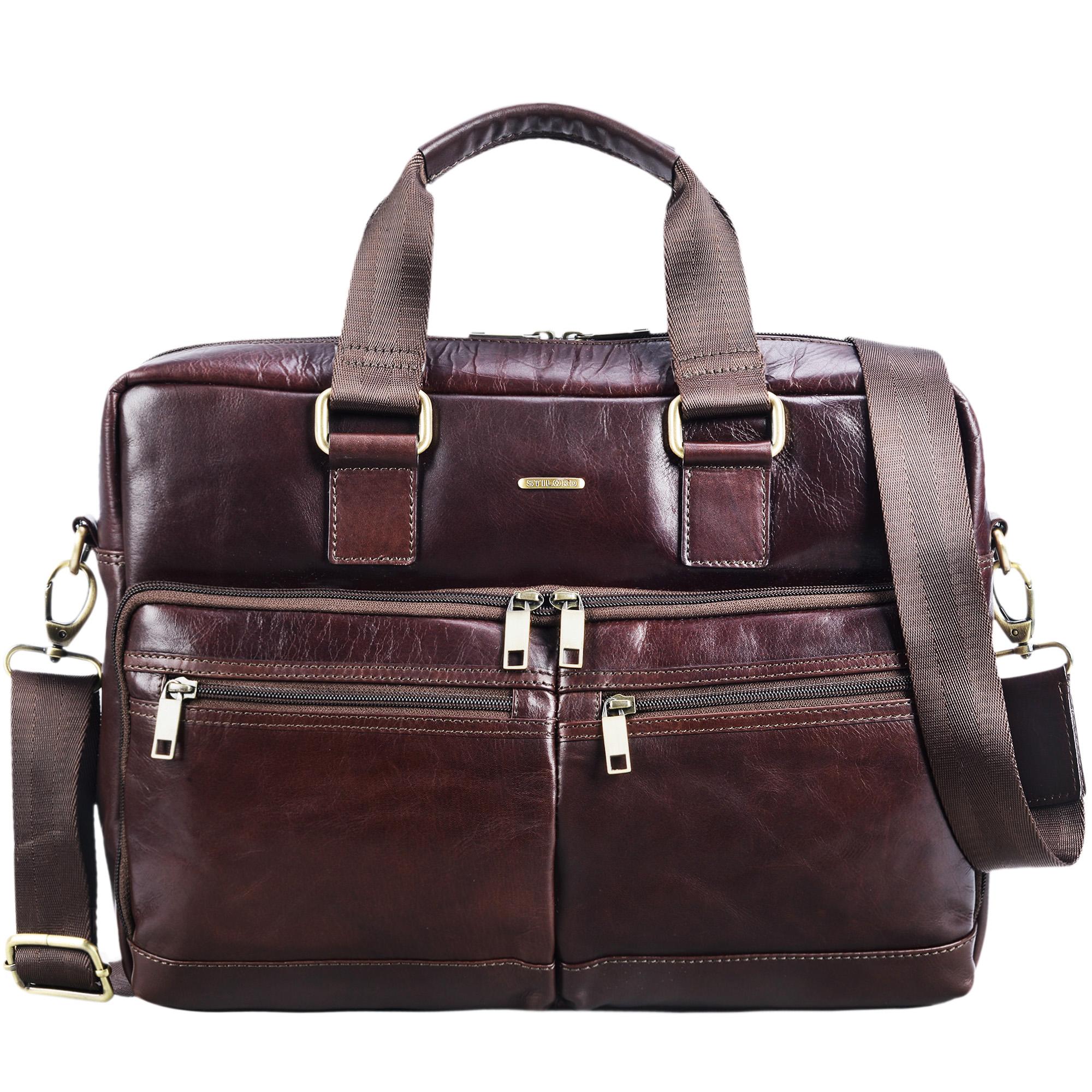 """STILORD """"Vito"""" Vintage Businesstasche Leder Herren Damen 14 Zoll Laptoptasche Umhängetasche Aktentasche Arbeitstasche Rindsleder - Bild 8"""