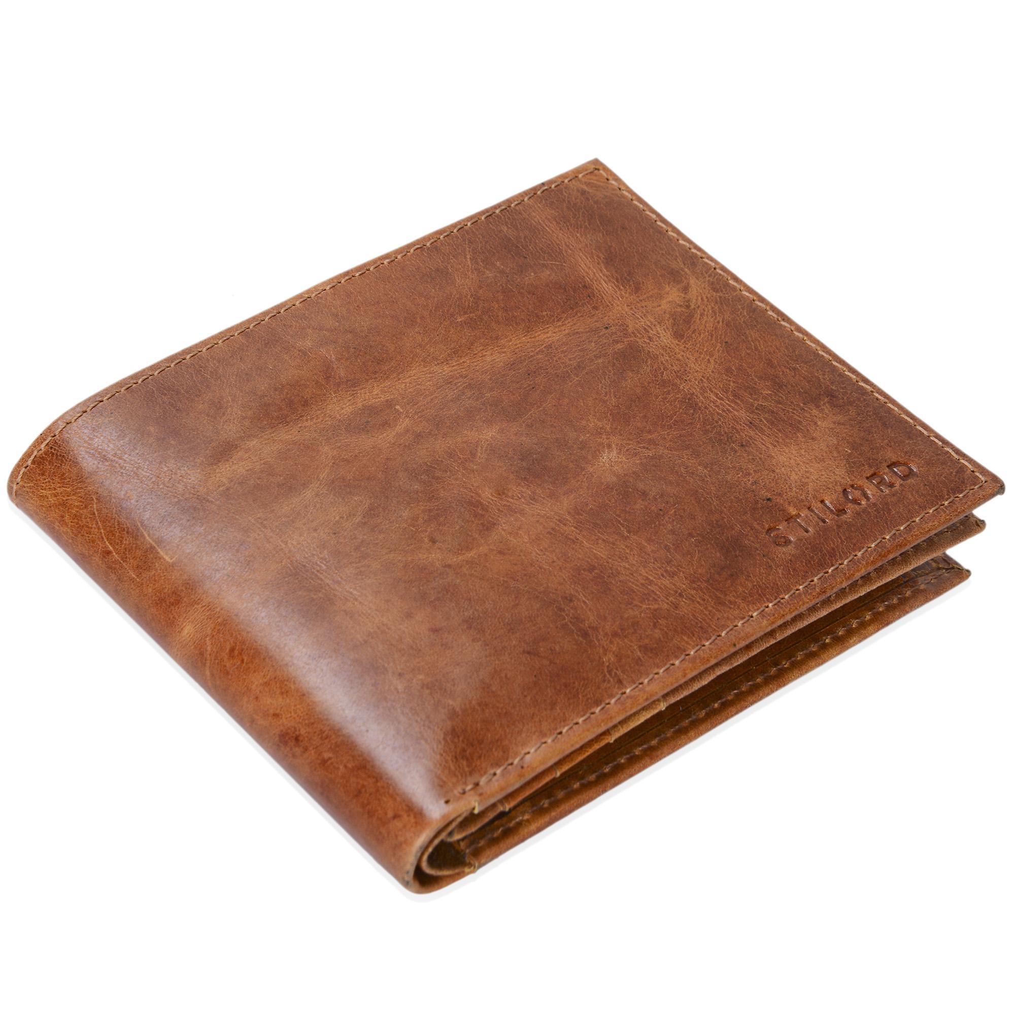 """STILORD """"Chester"""" Vintage Leder Geldbörse mit EC-Karten Schutz Herren Portemonnaie Brieftasche elegant  Retro Rindsleder - Bild 11"""