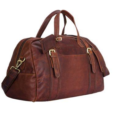 """STILORD """"Georgia"""" Große Reisetasche Vintage Leder mit Tragegriff und Schultergurt Reisegepäck Handgepäck in Kabinengröße aus echtem Büffel Leder Farbe: cognac - dunkelbraun"""