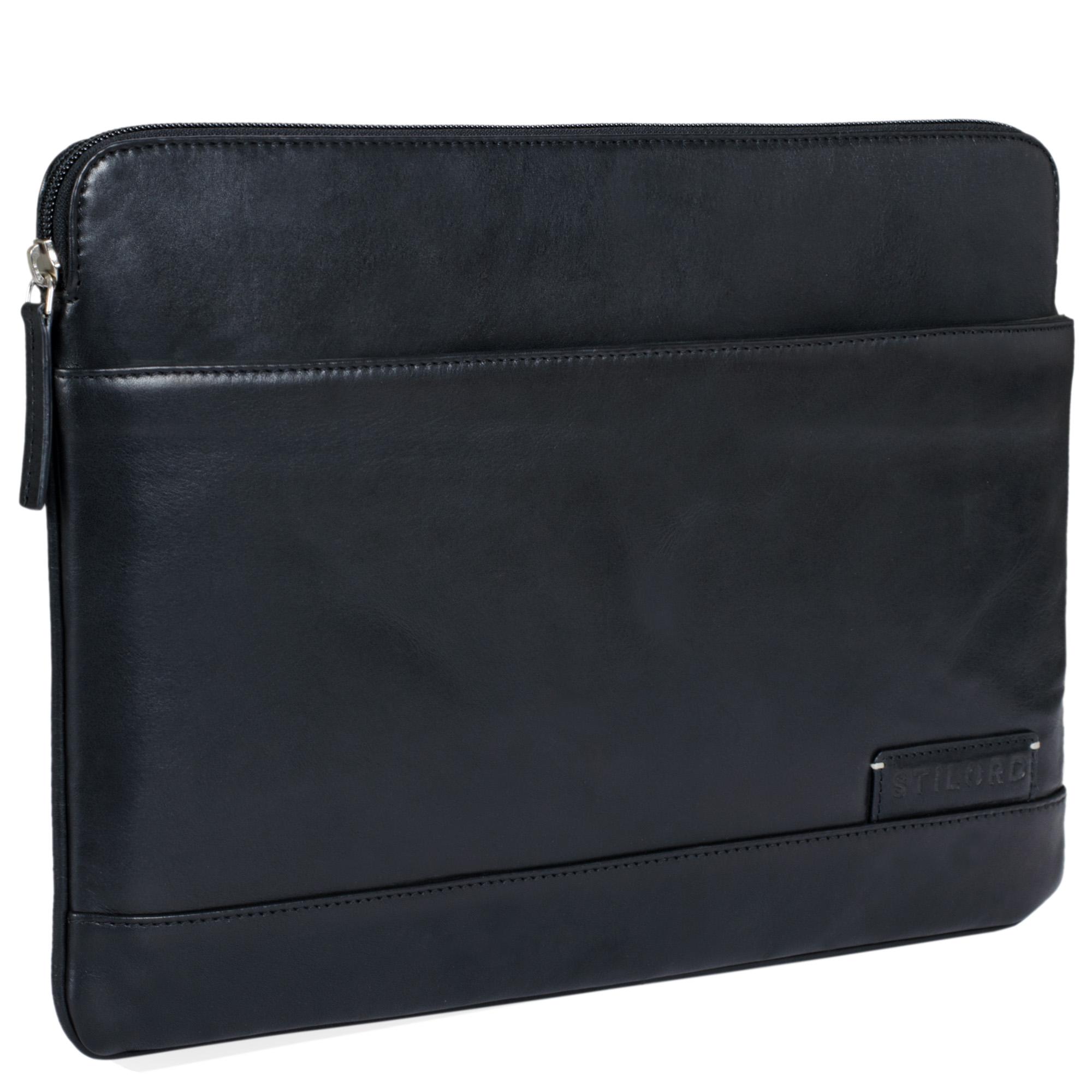 """STILORD """"Robb"""" Vintage Leder Laptoptasche für 13,3 Zoll MacBooks MacBooktasche Universal Tablettasche bis 14 Zoll DIN A4 echtes Rindsleder - Bild 9"""