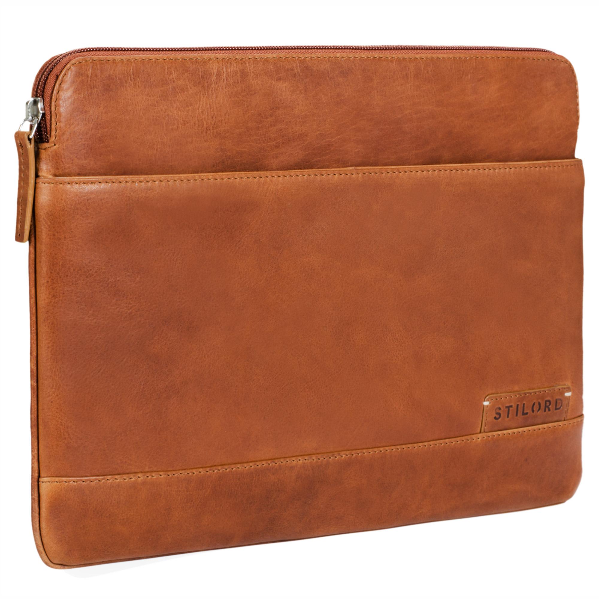 """STILORD """"Robb"""" Vintage Leder Laptoptasche für 13,3 Zoll MacBooks MacBooktasche Universal Tablettasche bis 14 Zoll DIN A4 echtes Rindsleder - Bild 8"""