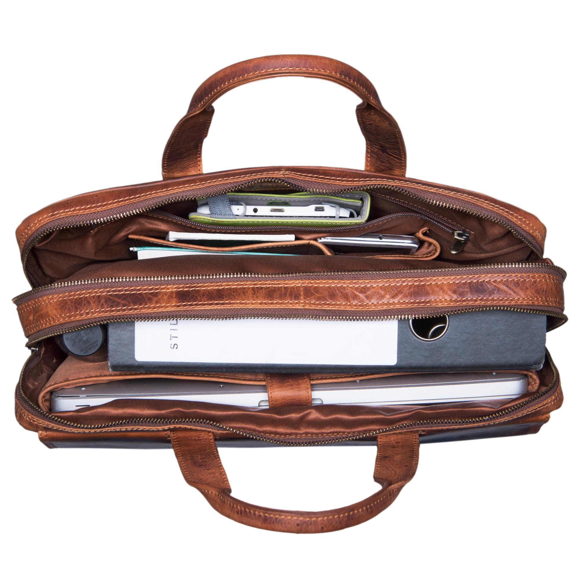 stilord jasper umh ngetasche business herren leder gro e messenger bag f r 15 6 zoll laptop. Black Bedroom Furniture Sets. Home Design Ideas