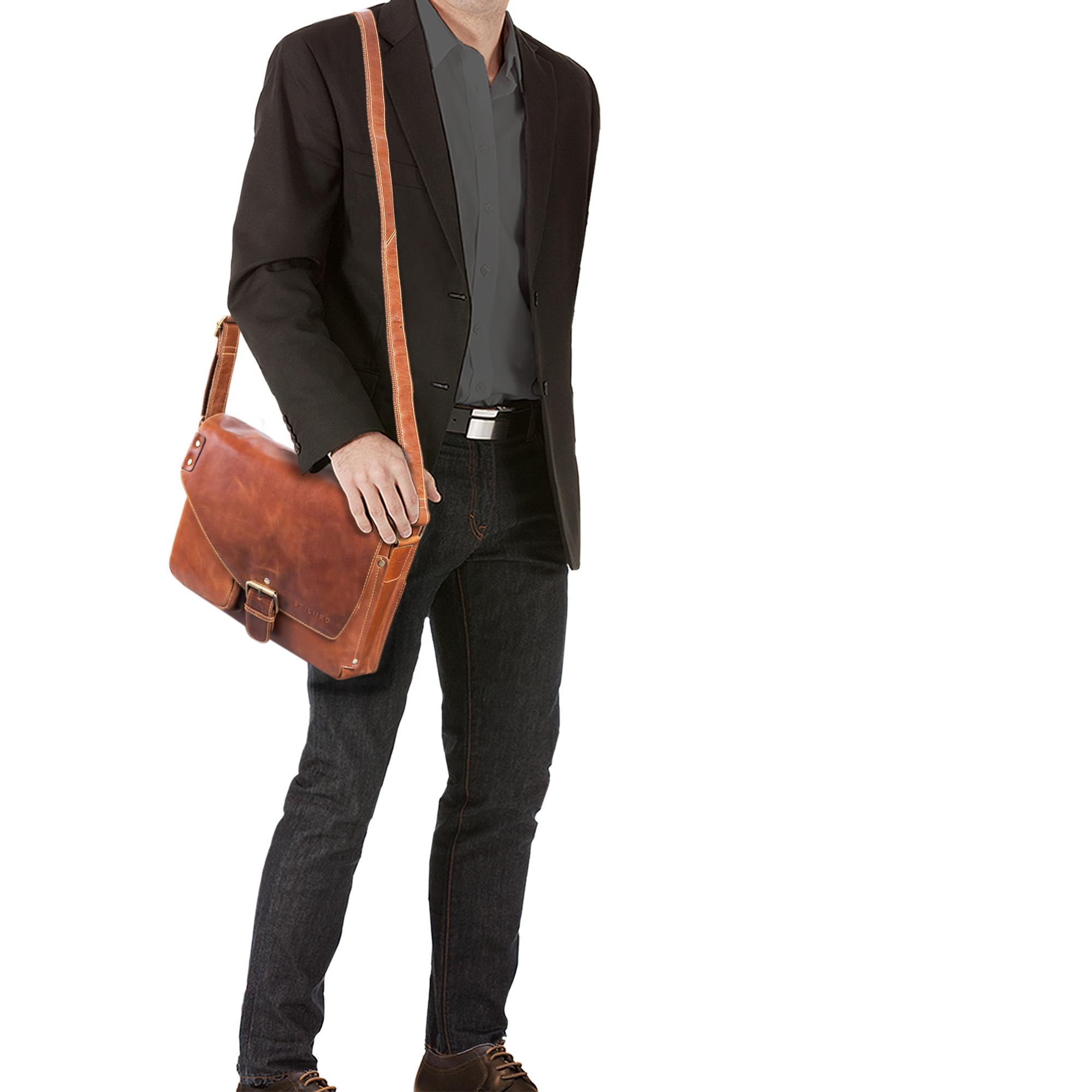 Messenger Bag Leder braun
