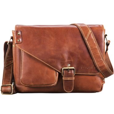 Leder Messenger Bag